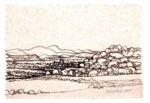 Aragon - Rein Dool, 20x29,5 cm. inkt 2004