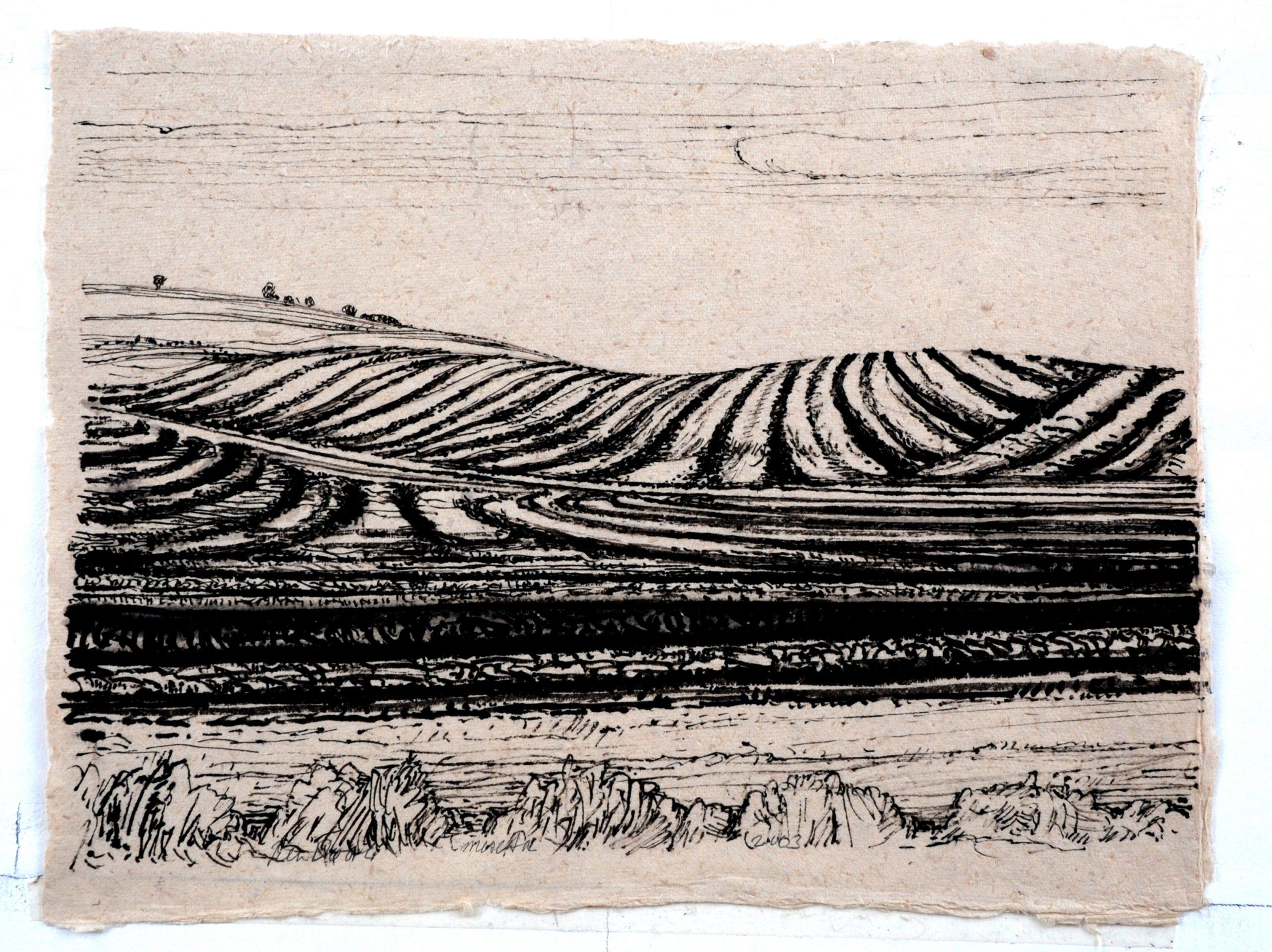 Aranda de Duero - Rein Dool, 30x40 cm. inkt 2003