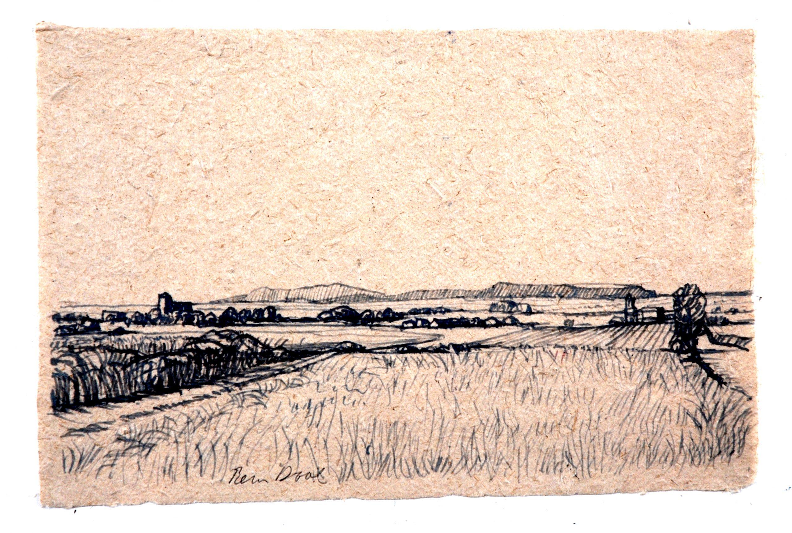 Castro Jeriz - Rein Dool, 19x30 cm. inkt 2005