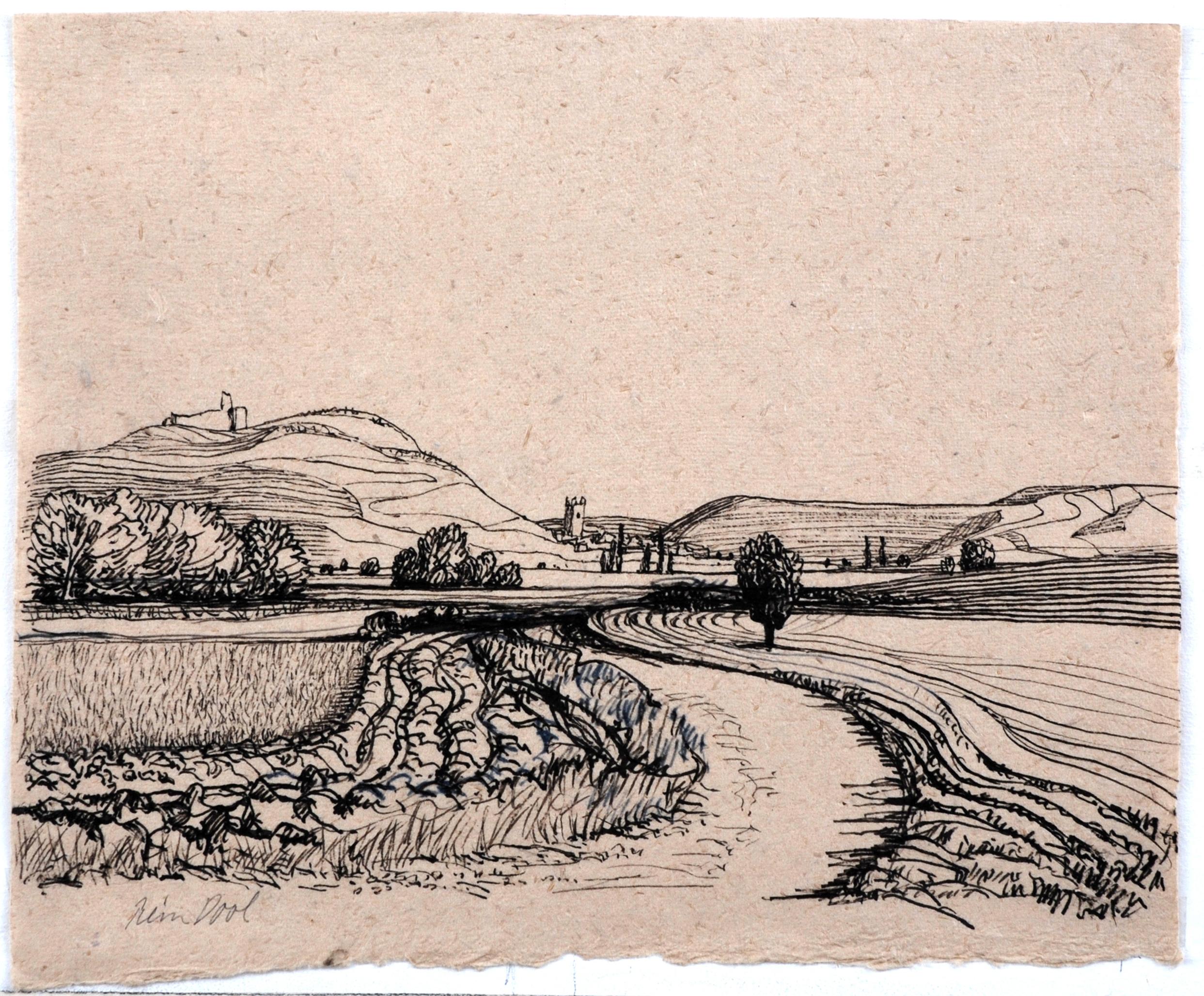 Castro Jeriz - Rein Dool, 28x34,5 cm. inkt 2006