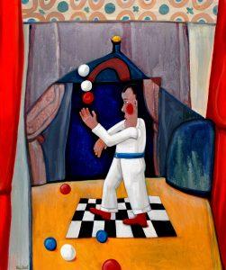 Circus - Rein Dool, 120x80 cm. olie tempera 2007