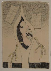 Door het oog van de naald blz. 853 - Rein Dool, 100x70 cm. houtskool en potlood 2011