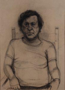 Ed Leeflang - Rein Dool, houtskool