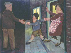 Enig kind - Rein Dool, 170x215 cm. olie tempera 1997
