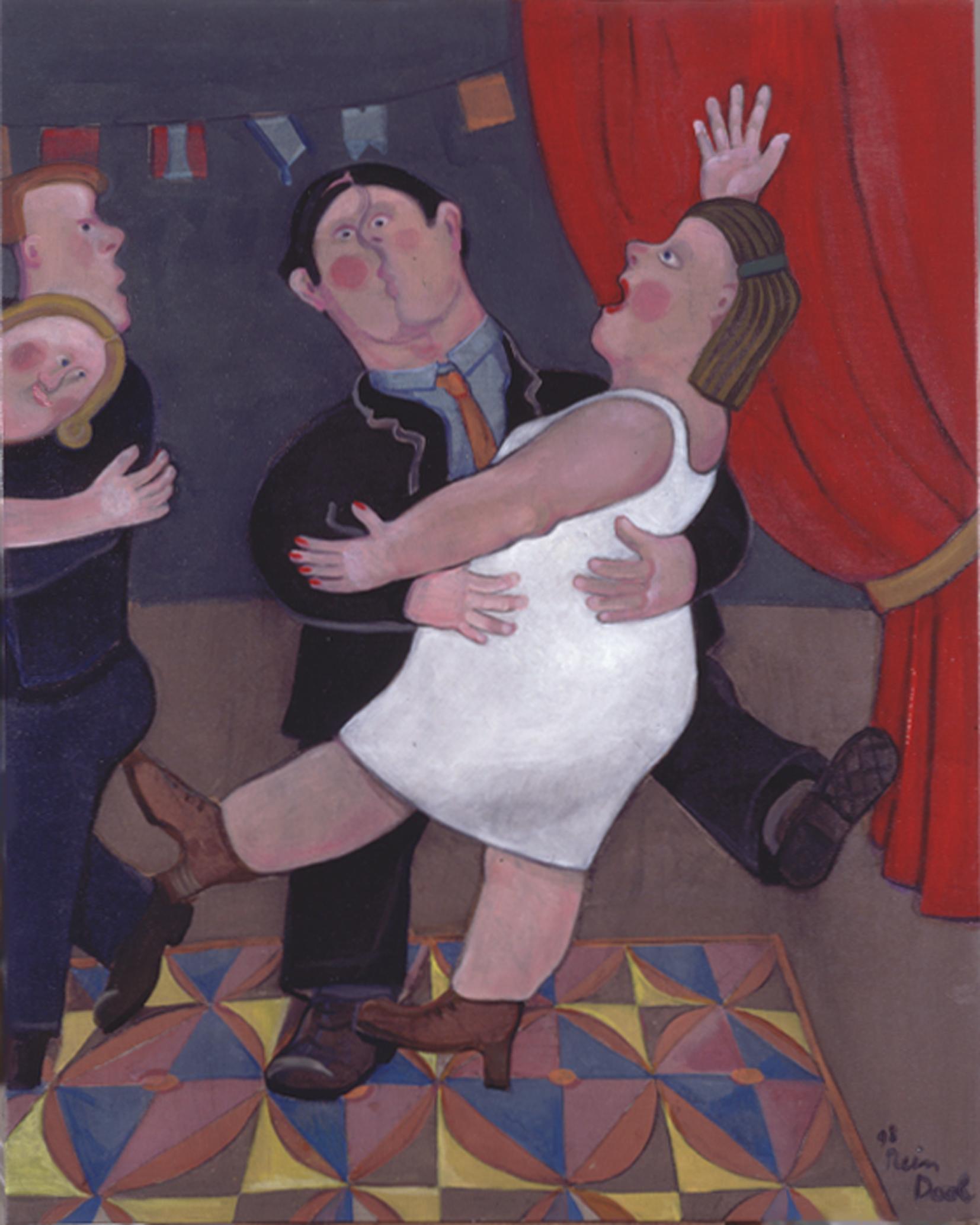 Familiefeest - Rein Dool, 120x100 cm. olie tempera 1998