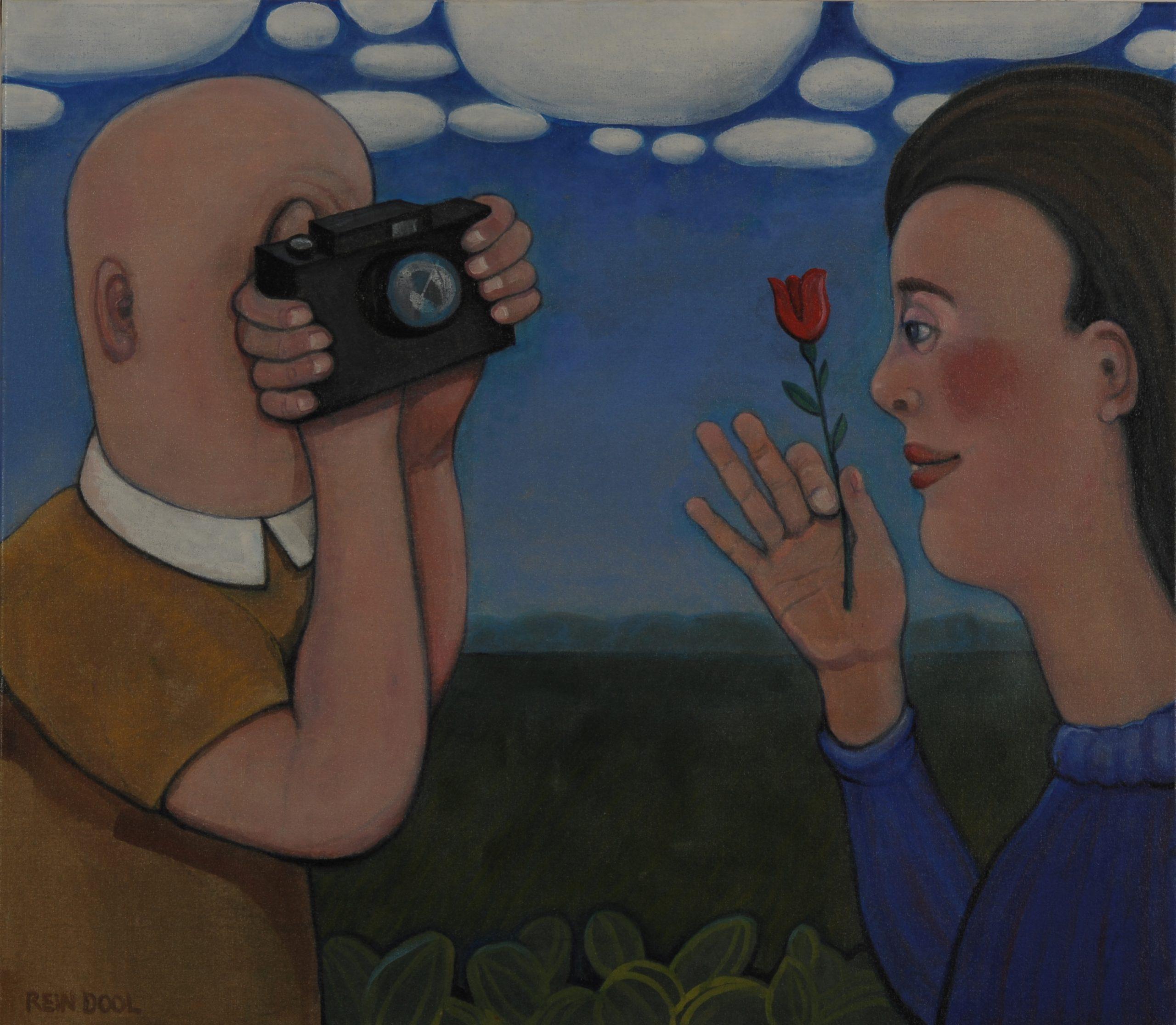 Georgische liefde1 - Rein Dool, 70x80 cm. olie tempera 2012