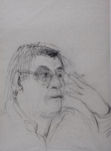 Henk Bernlef - Rein Dool, houtskool