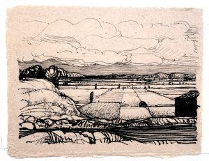 Huesca - Rein Dool, 30x39,5 cm. inkt 2003