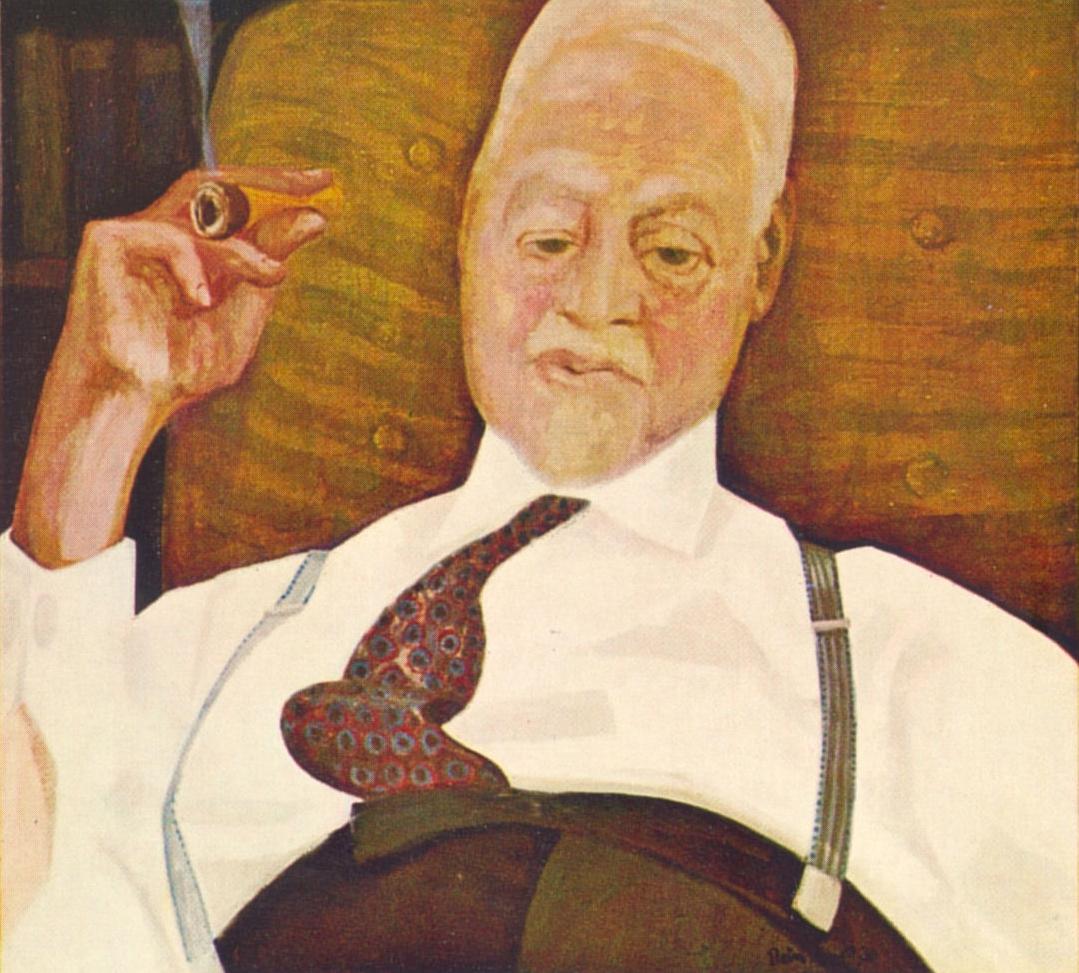 Ir. Ernst Hijmans -Rein Dool, 100x110 cm. olie tempera 1970
