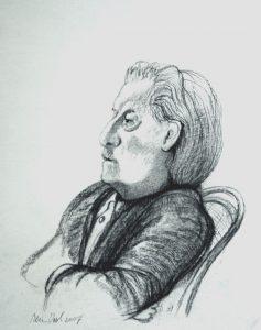 Jan Siebelink - Rein Dool, houtskool