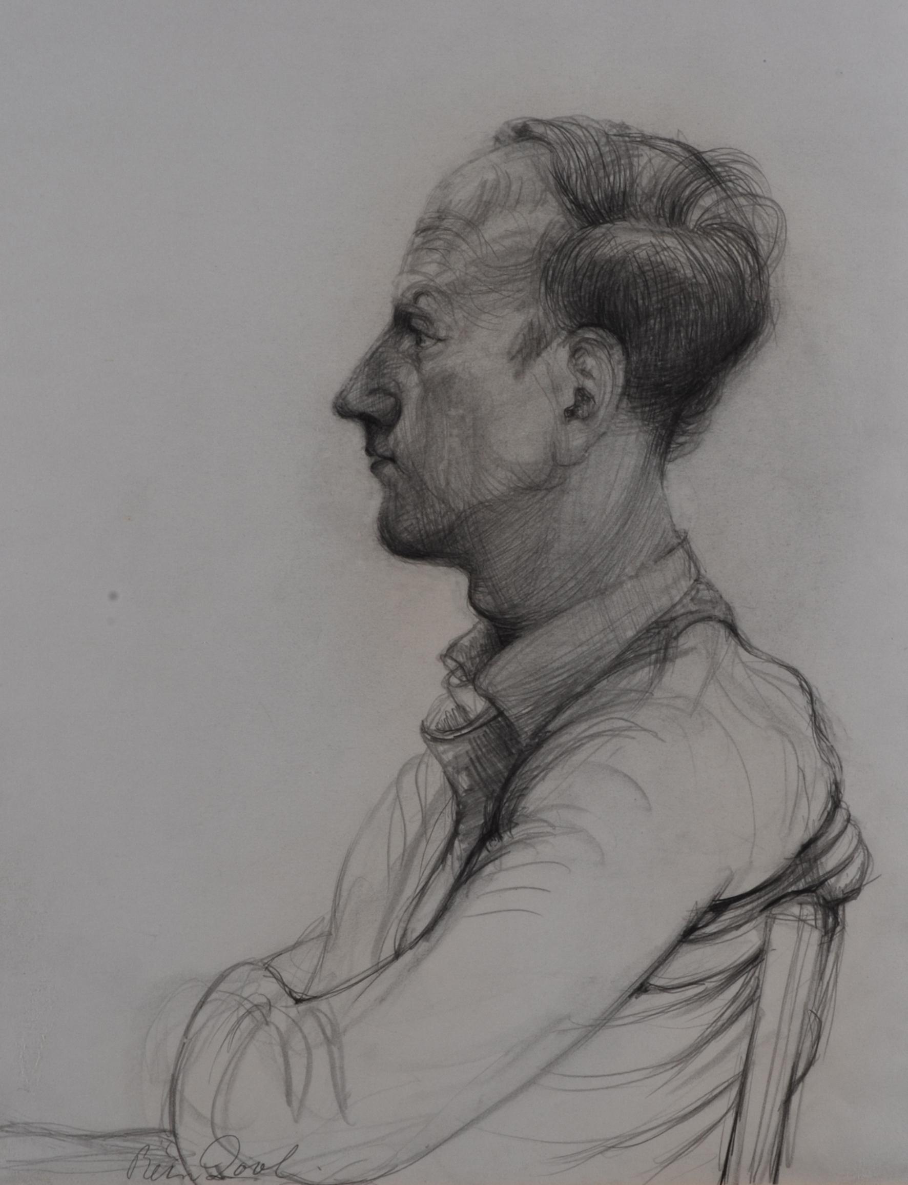 Maarten 't Hart - Rein Dool, houtskool