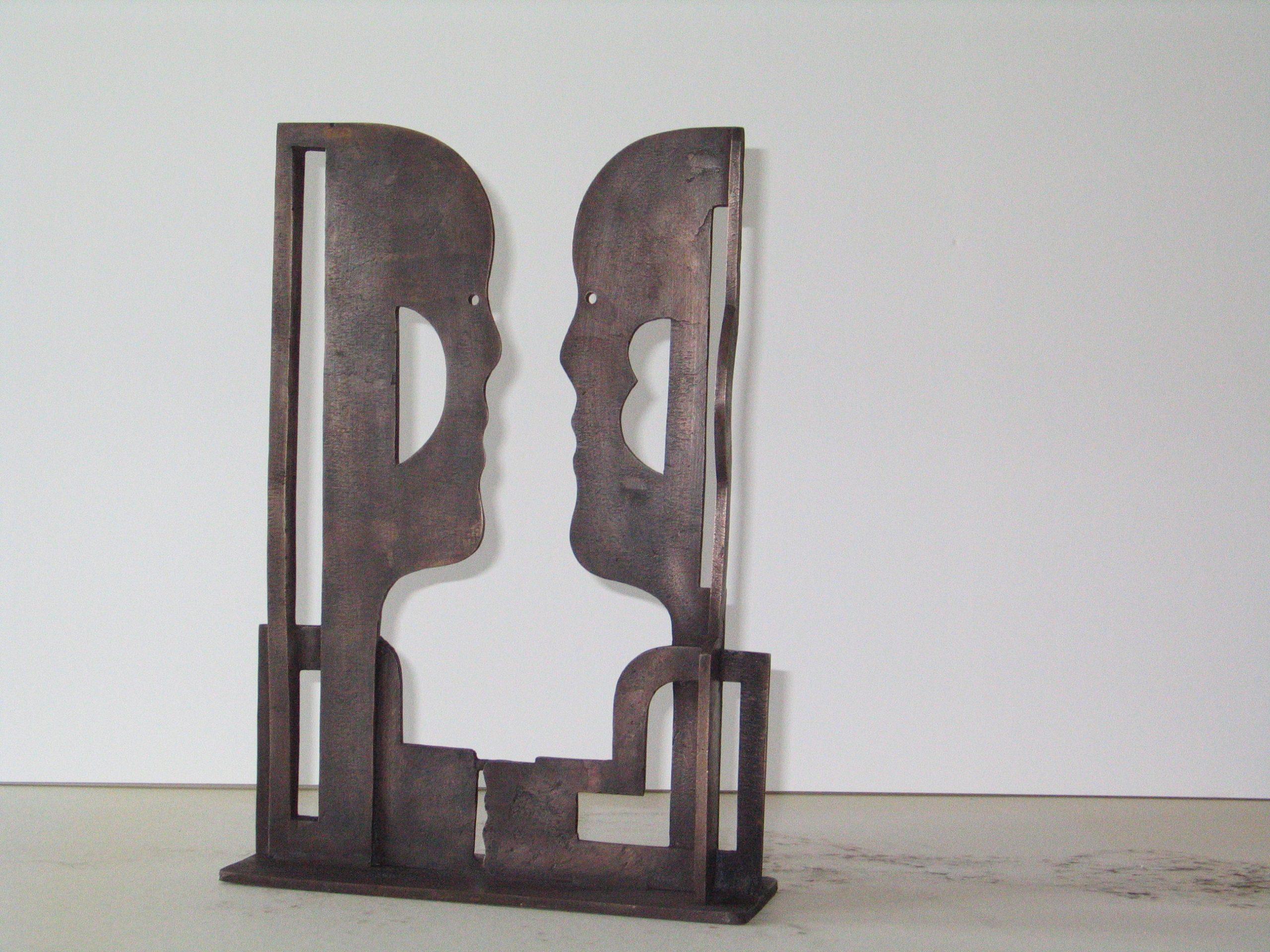 Ontmoeting - Rein Dool, 39 cm hoog. brons 2004