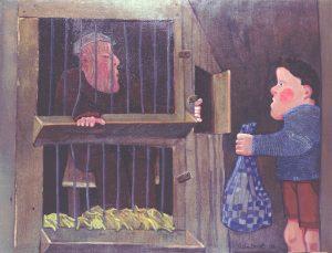 Oorlogswinter - Rein Dool, 170x215 cm. olie tempera 1997
