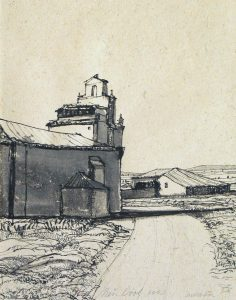 Palencia - Rein Dool, 39x27 cm. inkt 2003