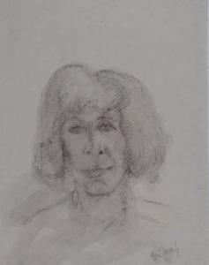 Renate Rubinstein - Rein Dool, houtskool