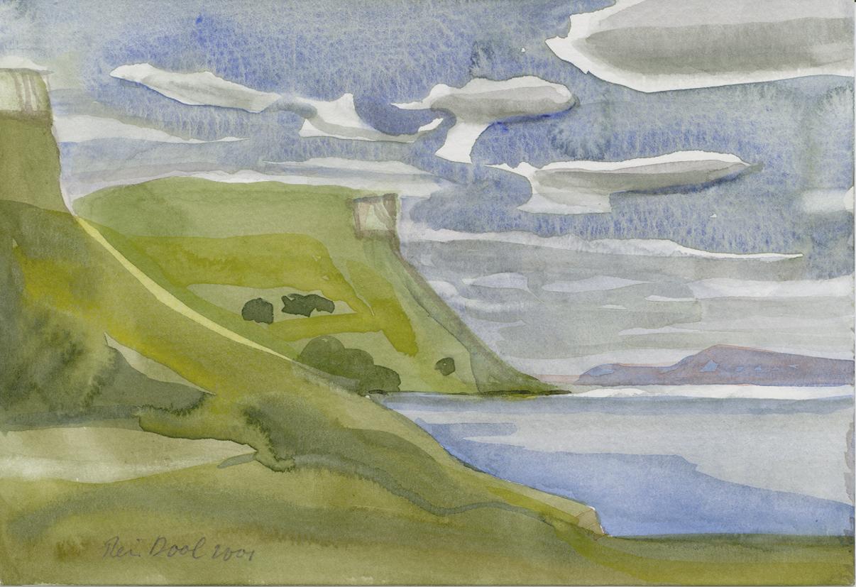 Schotland 2 - Rein Dool, 13,5x20 cm. aquarel 2001