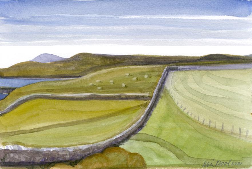 Schotland - Rein Dool, 13,5x20 cm. aquarel 2001