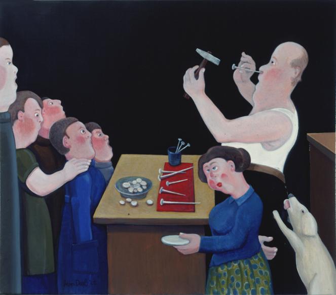 Spijkerman - Rein Dool, olie tempera 2002