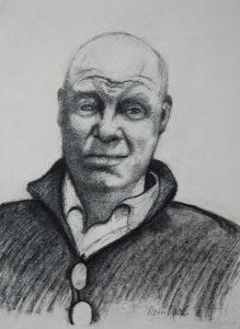 Tom van Deel - Rein Dool, houtskool