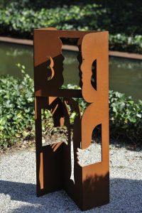 Tweeling - Rein Dool, 100 en 300 cm hoog. cortenstaal 2000