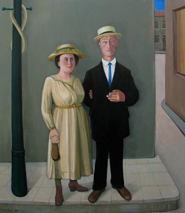 Vader en moeder - Rein Dool, 180x120 cm. olie tempera 2004