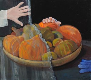 Verborgen fruit - Rein Dool, 70x80 cm. olie tempera 2000