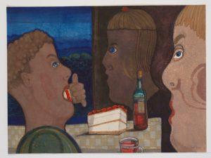 Verjaardag - Rein Dool 60x80 cm. aquarel 2017