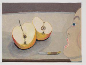 Verwondering 10 - Rein Dool, 60x80 cm. aquarel 2017