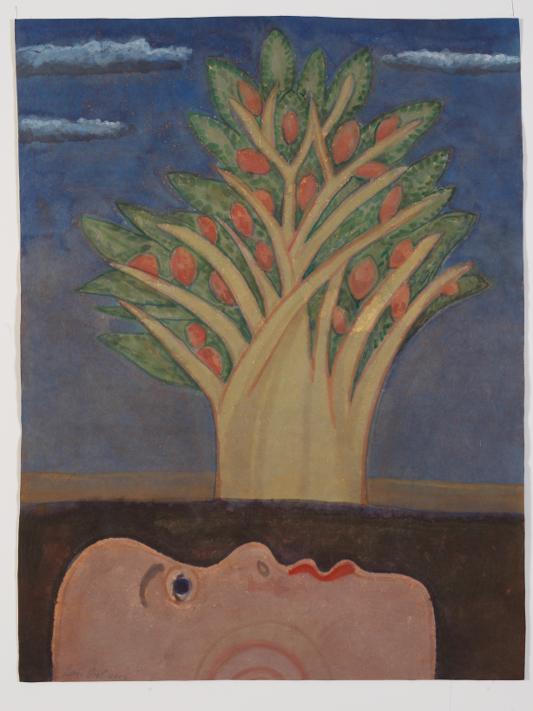 Verwondering 2 - Rein Dool, 80x60 cm. aquarel 2017