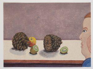 Verwondering 4 - Rein Dool, 60x80 cm. aquarel 2017