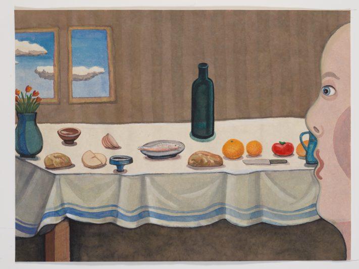 Verwondering 5 - Rein Dool, 60x80 cm. aquarel 2017
