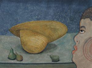 Verwondering 6 - Rein Dool, 60x80 cm. aquarel 2017
