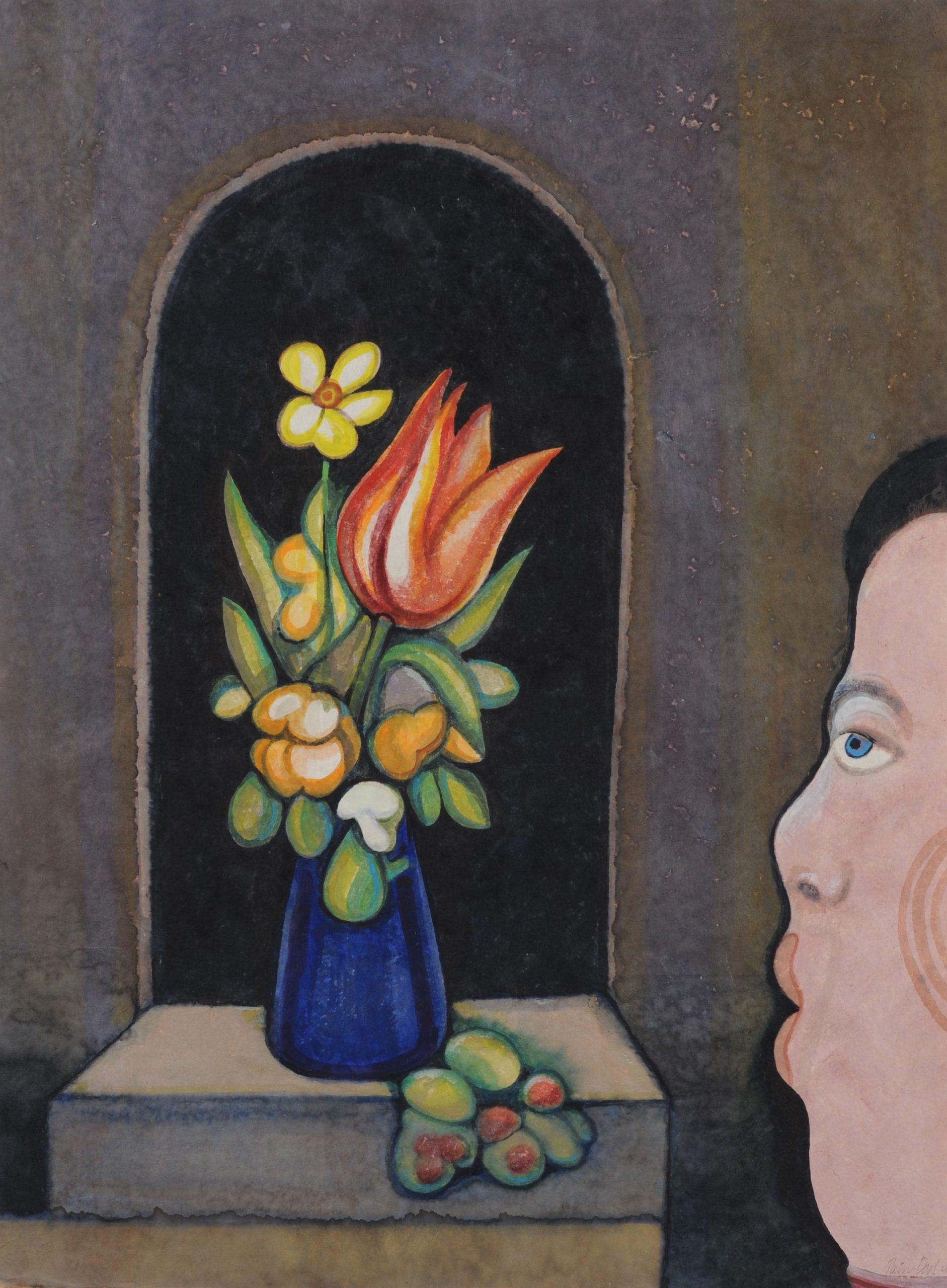 Verwondering 8 - Rein Dool, 60x80 cm. aquarel 2017