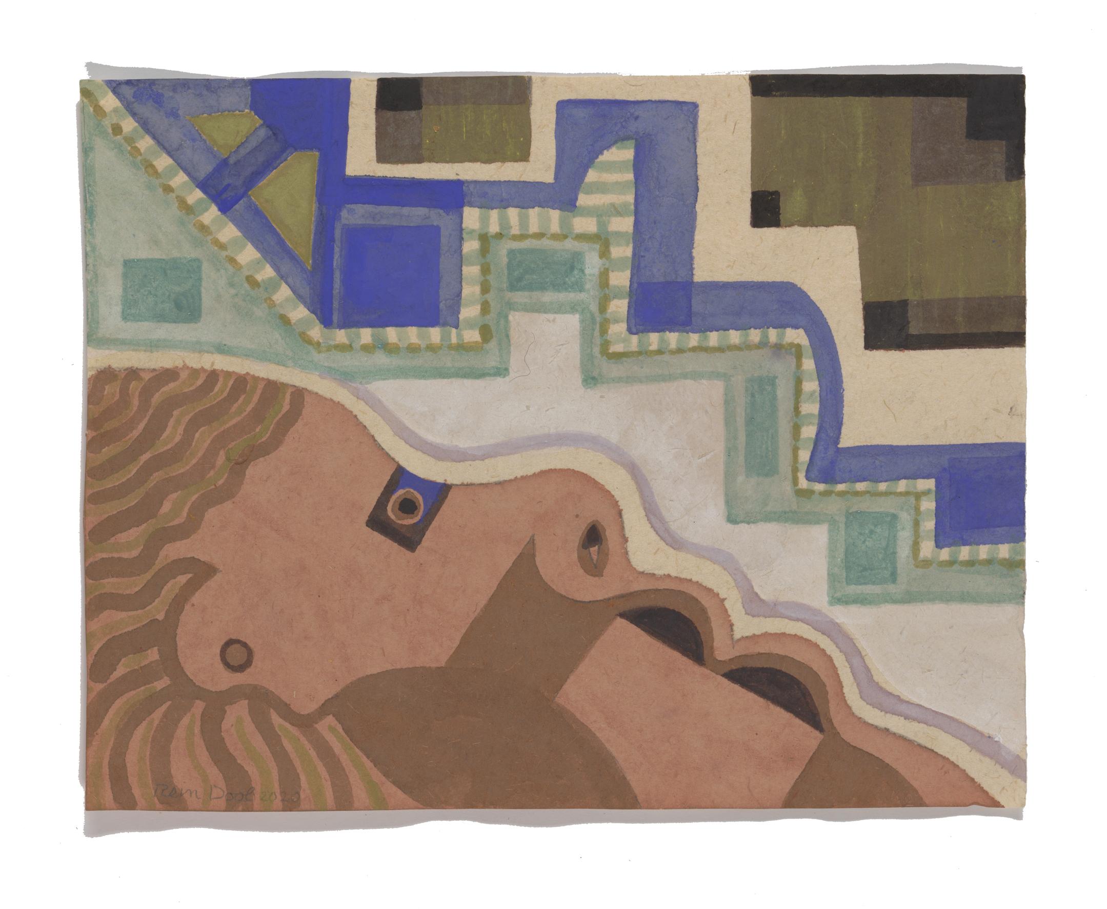 Z.T. - Rein Dool, 22x28cm, aquarel 2020