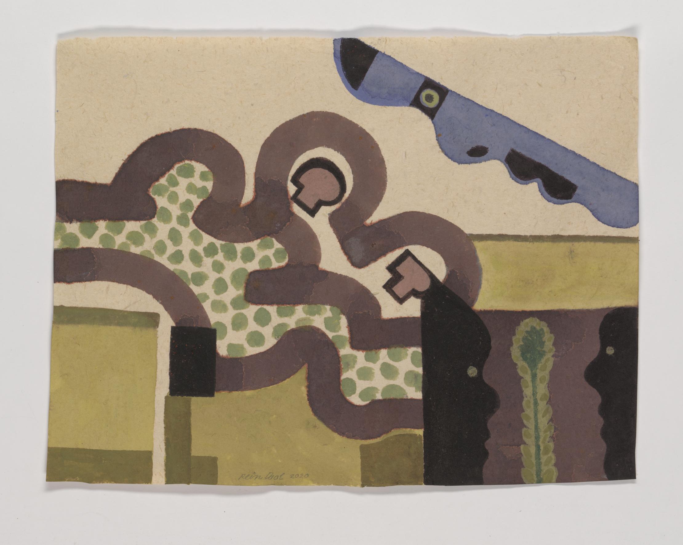 Z.T. - Rein Dool, 26x34cm, aquarel 2020