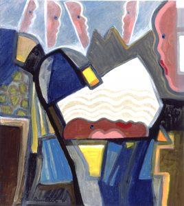Z.T. - Rein Dool, 90x80 cm. olie tempera 2001